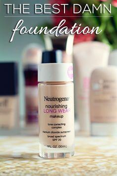 The Best Damn Foundation - #bestfoundation #neutrogena #foundation #makeuptips #beautytips #hairsprayandhighheels - bellashoot.com & bellashoot iPhone & iPad apps