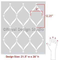 Wall Stencil Pattern Ribbon Lattice Allover Stencil Great Alternatiive to Decals and Wallpaper for Wall Decor. $39.00, via Etsy.
