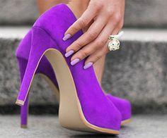 Leslie Rash Berckes Casse Pieds Purple High Heels  My wedding