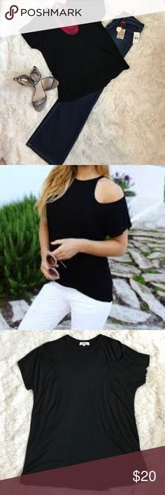 PIKO Cold Shoulder Top Black PIKO cold shoulder top, same style as on model picture. Never worn. Tops