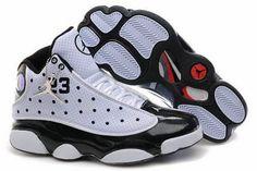 Cheap Jordans 13(XIII) White Black Red