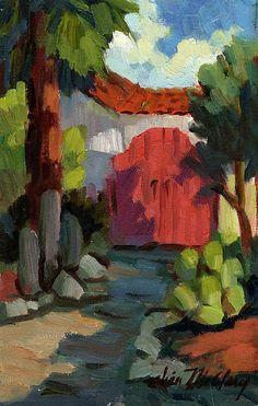 Casa Tecate Gate Painting  - Casa Tecate Gate Fine Art Print