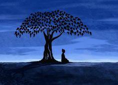 #Buddha under the #Bodhi tree.  I love this image so much.