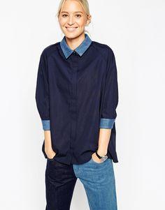 Image 1 - ASOS WHITE - Chemise avec col en jean