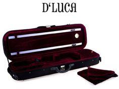 D'Luca VC-380 Oblong Full Size Violin Case with Hygrometer #deals