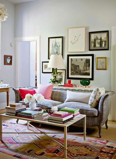 Different types of frames over sofa
