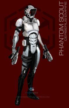 StarWars MassEffect Crossover Phantom Scout by rs2studios on deviantART