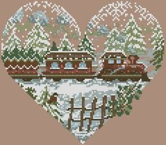 Christmas Cross, Winter Christmas, Christmas Gifts, Christmas Decorations, Cross Stitching, Cross Stitch Embroidery, Cross Stitch Patterns, Bothy Threads, Cross Stitch Heart