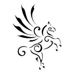 TATTOO TRIBES: Tattoo of Stylized Pegasus, Inspiration, elevation tattoo,pegasus wingedhorse elevation goinghigh tattoo - royaty-free tribal tattoos with meaning Tribal Tattoos, Trendy Tattoos, Body Art Tattoos, Girl Tattoos, Tatoos, Tribal Wolf Tattoo, Random Tattoos, Pegasus Tattoo, Henna Designs