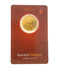 Atjewel 10 Gram 999 Gold Coin