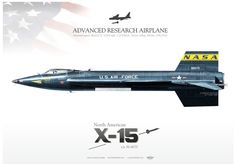 NASA . USAF  ADVANCED RESEARCH AIRPLANE  North American X-15 s/n 56-6670. my painting