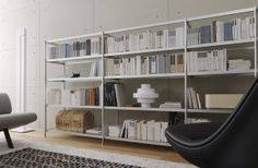 """""""This modular storage system has a frame made from extruded aluminium elements."""" #design Alfredo Häberli http://www.aliasdesign.it/worlds/37/sec/"""