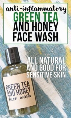 Green tea is amazing for your skin. That's what makes this all natural DIY face wash so great. It is perfect for people with sensitive skin, and it is naturally anti-inflammatory. And unlike a lot of homemade face washes, it actually has some foaming acti Homemade Face Wash, Homemade Skin Care, Diy Skin Care, Homemade Face Creams, Homemade Face Cleanser, Homemade Beauty Products, Green Tea And Honey, Sensitive Skin Care, Tips Belleza