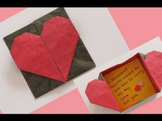 Make an Origami Heart and Keep Romance Alive SUBTITULOS EN ESPAÑOL. Learn how to make an easy origami heart which can be opened into a box. Origami Envelope Easy, Easy Origami Heart, Origami Easy, Origami Paper, Origami Box Tutorial, Origami Instructions, Envelope Tutorial, Origami Design, Origami Christmas Ornament