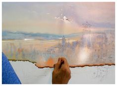 Art Of Watercolor: Thomas Shaller`s Master-Class Watercolor Painting Techniques, Watercolor Projects, Watercolour Tutorials, Watercolor Artwork, Painting Lessons, Watercolor Landscape, Art Lessons, Landscape Paintings, Watercolour Tips