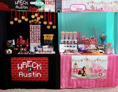 wreck it ralph party | Wreck-it Ralph / Sugar Rush Birthday Party // Hostess with the Mostess ...