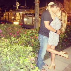 Secret Kiss from Eric Decker and Jessie James Are the Hottest Couple Ever These two always find the time to sneak in a quick kiss. Eric And Jessie Decker, Jesse James Decker, Eric Decker, Jessie James, Eric & Jessie, Hot Couples, Celebrity Couples, Adorable Couples, Power Couples