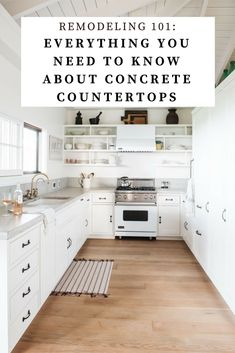 Everything you need to know about price, installation, and care of concrete countertops.