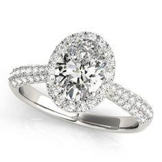 cd24bb75b 1.75 cts. halo diamond engagement ring white gold 14k jewelry men women