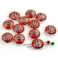 12 basketball beads 2 hole slider bead 10040