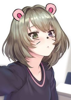 Anime picture 				600x849 with  		idolmaster 		idolmaster cinderella girls 		mobile suit gundam 		gundam g no reconguista 		sunrise (studio) 		takagaki kaede 		meto31 		single 		tall image 		blush 		short hair 		blue eyes 		simple background 		fringe 		green eyes 		green hair 		upper body 		multicolored eyes 		self shot 		girl