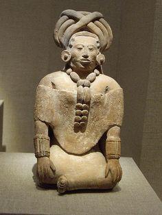 Seated Figure Late Classic Maya (600 AD, Jaina Island, De Young SF)