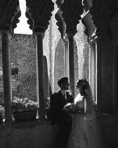 Fine Art B&W Wedding in Villa Rufolo