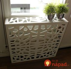 Corian cover for radiator! There are so many amazing things you can create with corian! Decor, Home Accessories, Home Projects, Diy Furniture, Home Improvement, Home Radiators, Home Decor, Hippie Home Decor, Home Deco