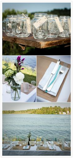 new england lakeside wedding