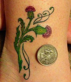 Image result for Celtic Thistle Tattoos for Women