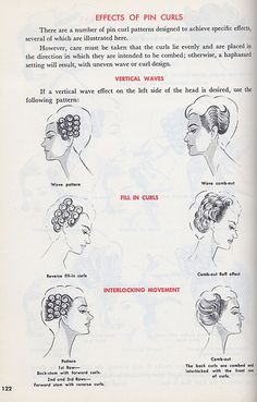Effects of pincurls on side of head