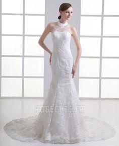 Robe de mariée Tulle Attrayant Longueur ras du Sol élancé Naturel taille