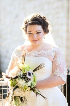Love the lace!   Gorgeous plus size women and fashion. Wedding