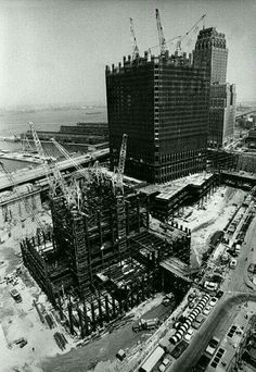 WTC- North & South Towers under construction