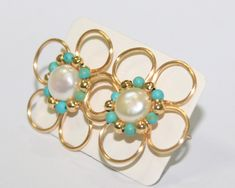 Simple Jewelry, Cute Jewelry, Metal Jewelry, Beaded Jewelry, Jewellery, Beaded Earrings Patterns, Diy Earrings, Jewelry Patterns, Handmade Wire Jewelry