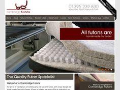 Cambridge Futons - Ecommerce Website Development Portfolio Website Design, Futons, Cambridge, Ecommerce, E Commerce, Lounge Chairs