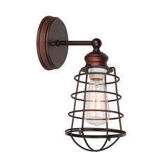 Ajax Textured Bronze 1 Light Bathroom Wall Sconce Design House 1 Light Armed Candle Wall S