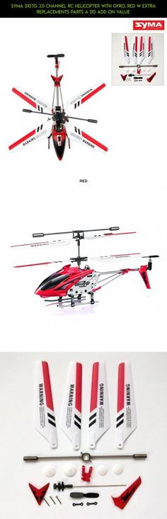 Syma S107G 3.5 Channel RC Helicopter with Gyro, Red W Extra Replacements parts A $10 add on value #syma #tech #fpv #107g #parts #drone #shopping #gadgets #camera #racing #plans #kit #technology #helicopter #products