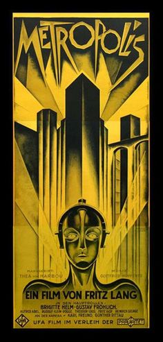 """""""Metropolis"""" by Fritz Lang. Metropolis is a 1927 German expressionist science-fiction film directed by Fritz Lang"""