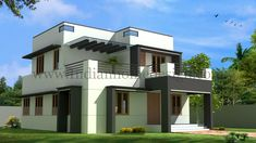 Today Indian Home Design showcase a Kerala home design idea Aquilainterio Thiruvananthapuram Kerala. Home specification Style :Modern Number Of Floors Number Of Bedrooms BHK Living About Kerala home design idea Aquilainterio New Modern House, Small Modern House Plans, Modern Small House Design, Modern Bungalow House, Small Modern Home, Simple House Design, Bungalow House Plans, Minimalist House Design, Tiny House Design