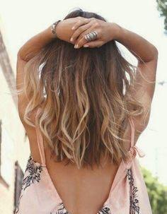 Trendy Hair Color Blonde And Brown Summer Long Bobs Ideas Trendy Haarfarbe Blond Und Braun Som Summer Hairstyles For Medium Hair, Trendy Hairstyles, Straight Hairstyles, Everyday Hairstyles, Balayage Straight Hair, Balayage Hair, Medium Hair Styles, Curly Hair Styles, Cabelo Ombre Hair