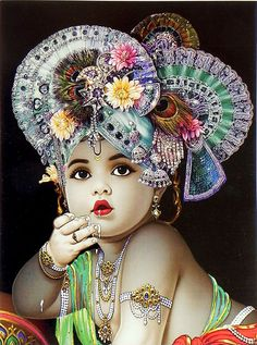 Little Krishna Enjoying the Taste of Butter - Hindu Posters (Reprint On Card Paper - Unframed) Krishna Hindu, Krishna Leela, Krishna Statue, Lord Krishna Images, Radha Krishna Pictures, Krishna Photos, Krishna Radha, Krishna Love, Lakshmi Photos