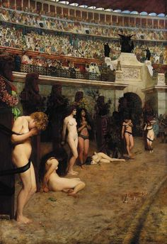 Faithful Unto Death – Christianæ ad Leones (Christians to the Lions), by Herbert Gustave Schmalz Women Christian Martyrs Famous Art Giclee Prints by SILVESTROMEDIA on Etsy, $12.99