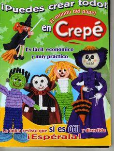 Revistas de manualidades gratis: muñecos de crepe halloween
