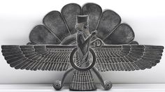 Ancient PersianFaravaharrelief. Faravahar is one of the best-known symbols of Zoroastrianism, a state religion of the ancient Persian Empires despite the fact that it had existed well before the creation of that religion.