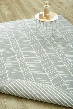 Silver Lateral Lines (reversible cotton rug) – Airloom Quality Carpets, Geometric Rug, Indoor Outdoor Living, Rugs On Carpet, Contemporary, Silver, Inspiration, Apartments, Home Decor