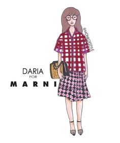 CARTOONS GO COUTURE: ANIMATED LADIES PAIRED WITH HIGH FASHION -- Daria for Marni