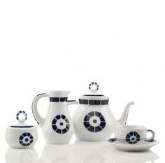Sargadelos Coroa Tea Set, 12 services