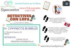 El próximo jueves 19 #Detectives #Signacuentos ¡Reserva tu plaza!