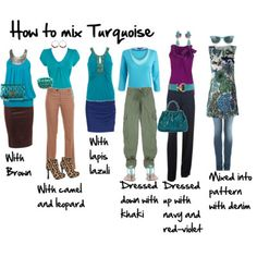How to Mix Turquoise, Imogen Lamport, Wardrobe Therapy, Inside out Style blog, Bespoke Image, Image Consultant, Colour Analysis